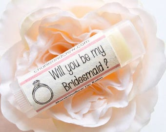 Lip Balm Favors| Will you be my Bridesmaid| Oval Twist Stick Balm| Vegan| Plantable| Wedding Favor