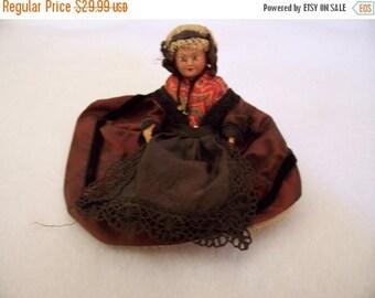 SALE Vintage celluloid doll - Polish costume
