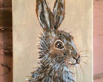 "Mini Hare. 4""x5"""
