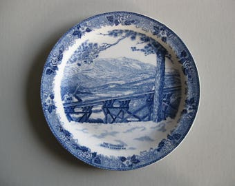 Skimobile North Conway,NH Old English Staffordshire Ware plate