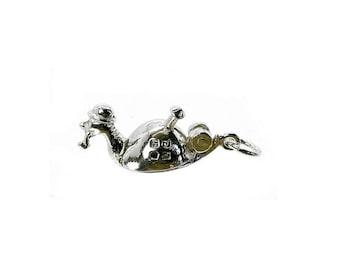 Sterling Silver Opening Mr Snail Charm For Bracelets