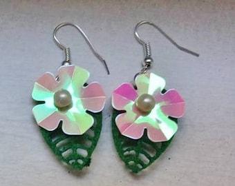 Dangling earrings Tropical summer