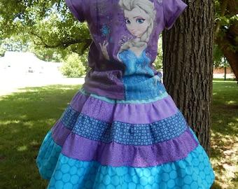 Elsa Skirt Frozen Skirt Disney Princess Skirt Rapunzel Skirt Ariel Skirt Cinderella Skirt Snow White Skirt, 6 months to Size 14