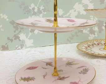 Retro 1950s 2 Tier Mini Cake Stand