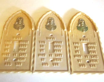 3 religious light switch plate cover sacred heart house blessing jesus switch electrical covers - Decorative Outlet Covers