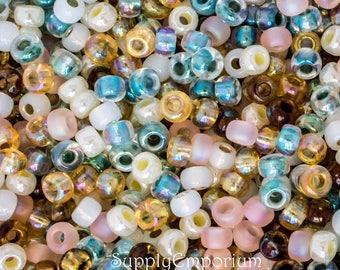 6/0 Miyuki Summer Beach Seed Bead Mix - 16 grams - Miyuki Summer Beadh 6/0 Mix - Exclusive Mix From SupplyEmporium, 4937