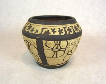 Weller Claywood 1910 art pottery arts and crafts Misson style brown biege