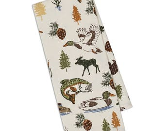 Hunting and Fishing Dish Towel