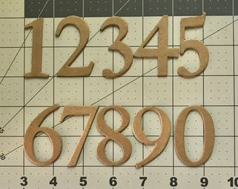 Chipboard Numbers, 0 -10 Heavy weight Chipboard Numbers Banner supplies,  craft supply,