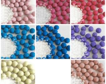 10 Wool Felt Balls - Size 4cm - 10 Felt Balls Pack - 4cm Pink Felt Balls, Purple Felt Balls, Blue Felt Balls - 4cm poms ON SALE - Final Sale