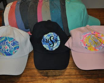 Raggy Monogram Lilly Inspired Cap