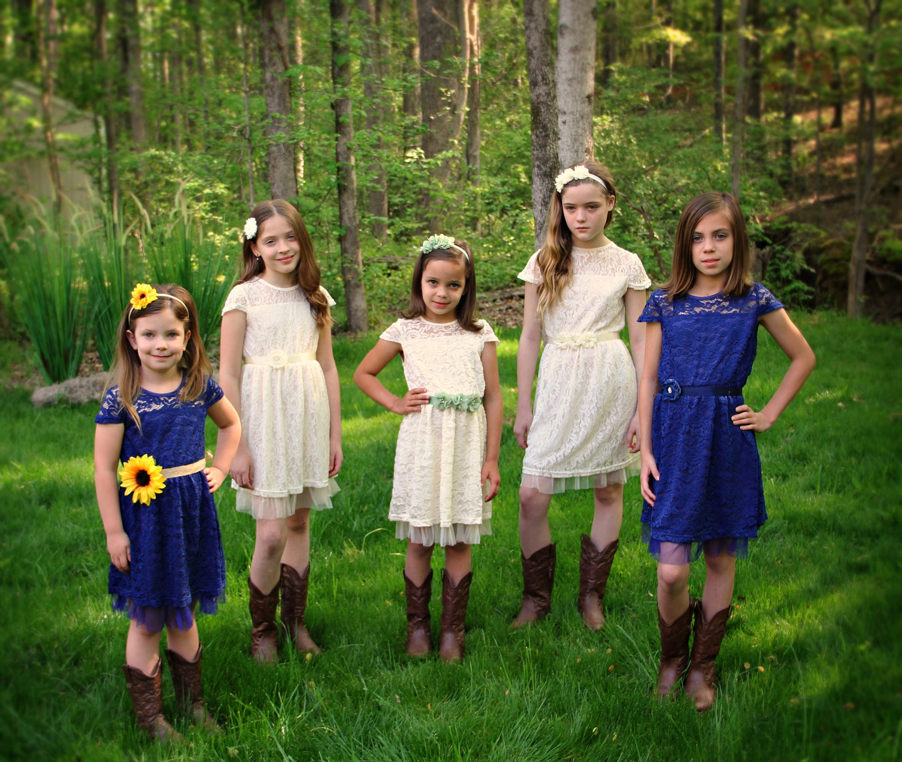 Flower girl dress rustic flower girl dress navy ivory coral jr flower girl dress rustic flower girl dress navy ivory coral jr bridesmaid dress black ivory country ombrellifo Images