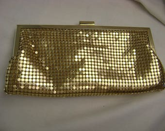 Vintage La Regale Gold Mesh Purse, Clutch Purse