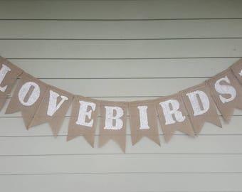 Lovebirds wedding banner