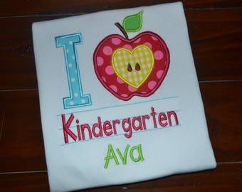 Personalized Kindergarten Shirt