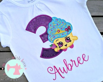 Shopping Cupcake Birthday Shirt-Shopkins Cupcake Birthday-Shopkins Shirt-Cupcake Shirt-Cupcake Birthday Shirt-Shopkins Birthday Shirt