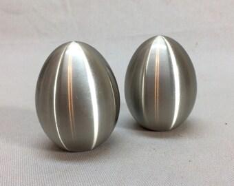 Spun Aluminum Salt & Pepper Shakers MCM Look