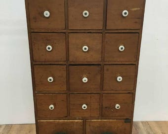 Antique Pine Apothecary Chest