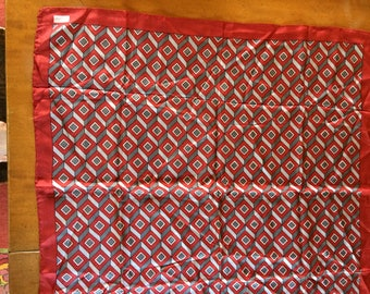 Red and Gray Silk Scarf by Echo