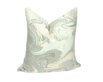 blush pillow cover // pink and grey pillow // blush marble cushion cover // marble pillow cover //  kate spade