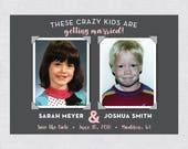 Childhood Photos Save the Date Postcard - DIGITAL FILE