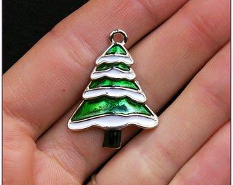 Christmas tree charm Tapis enamel christmas tree x 1