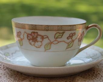 NIPPON Porcelain Teacup and Saucer Set