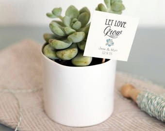 75 let love grow tags on sticks with rush fee