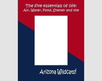 University of Arizona Picture Frame Photo Mat  Unique School Graduation Gift Personalized 5 Essentials