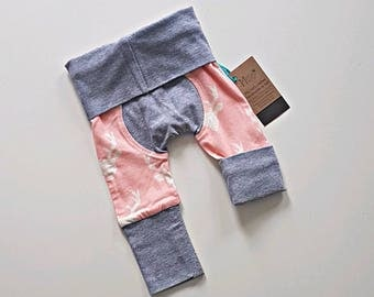 Newborn pink bucks bootie pants//Grow with me pants //Maxaloones