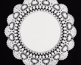 "4"" and 6"" Sizes WHITE Cambridge PAPER Lace DOILIES 