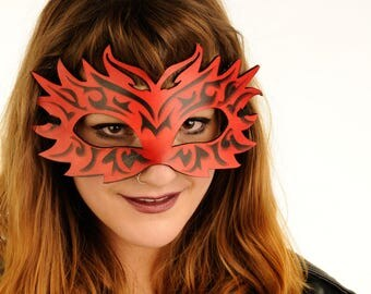 Artisan Leather Cosplay Mask