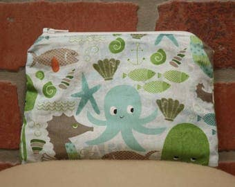 One Snack Sack, Sea Creatures, Reusable Lunch Bags, Waste-Free Lunch, Machine Washable, Back to School, School Lunch, item #SS56