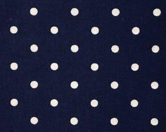 PRE-Order, Navy Polka Dots, Knitting Bag, Crochet, Knit, Yarn, Wool, Yarn Storage, Yarn Bag with Hole, Grommet, Handle