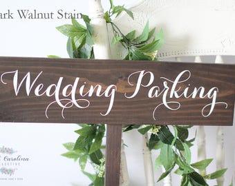 Wooden Arrow Signs for Wedding   Wooden Wedding Parking Sign   Wedding Parking Sign   Parking Wedding Sign   Wood Parking Sign - WS-165