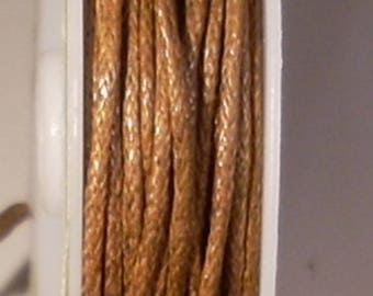 1 METER OF COTTON WAXED 1 MM BROWN