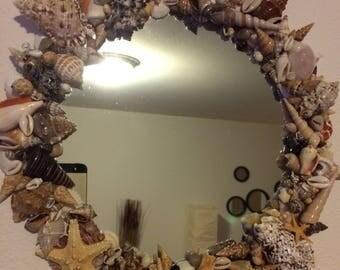 Hawaiian Seashell Framed Mirror