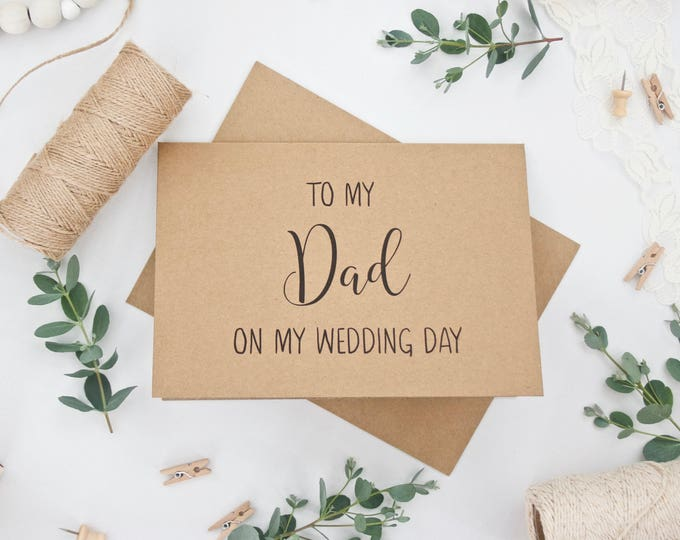 'To My Dad on My Wedding Day' Card