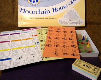 1988 Mountain Home-opoly Board Game - Unused - Excellent Condition - Monopoly Based Game - Mountain Home, Arkansas