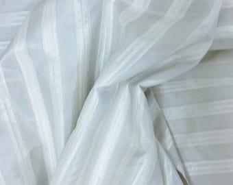 Pearl Gray striped iridescent heavy taffeta