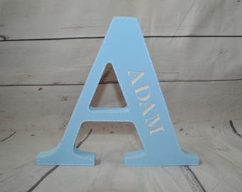 Engraved Personalised Freestanding Letter