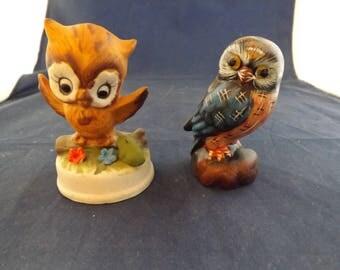 Two Cute Owl Figures Enesco