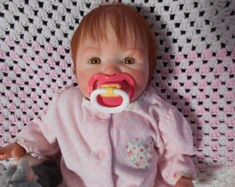Reborn Baby Girl , Aubrey Sculpt, 20 Inches, Golden Brown Eyes, Premium Mohair, Newborn, Fake Baby, Lifelike, Realistic by Babies4U Nursery