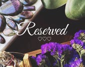 Reserved for Lindsay O.