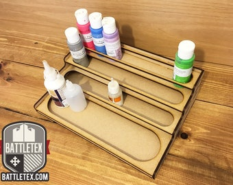 BattleTex Straight Paint Station 2 - Citadel Warhammer Wargaming Painting Tool Tidy Miniature Modeling