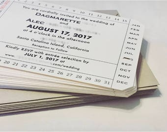 Train Ticket Invitation for Travel Wedding / Vintage Inspired Ticket Invitation / Ferry Ticket / Destination Wedding Invitation (set of 20)