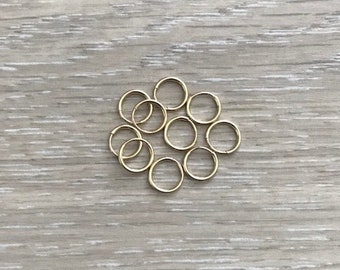 14k Gold Filled Hoops, Tiny Gold Hoops, 9 mm Hoops, 12 mm Hoops, Endless Hoops