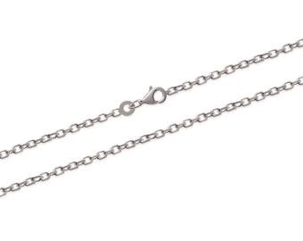 Silver 925/000 95 cm long chain necklace to add a pendant