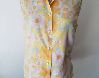 60's Flower Power Blouse