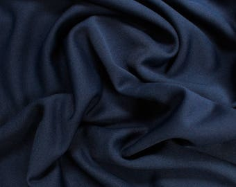 Navy Mini Pique Poly Stretch Knit Fabric by the Yard and Swatch - Style 2011